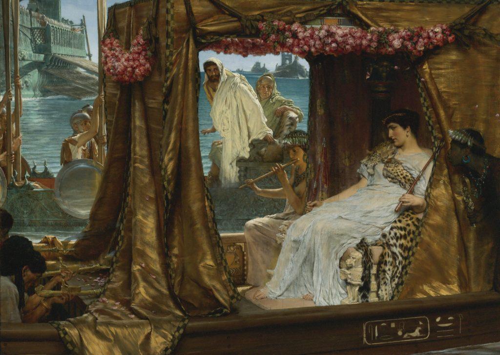 Cuadro encuentro entre Cleopatra y Marco Antonio (Lawrence Alma-Tadema)