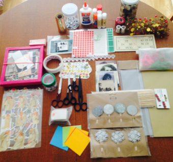 taller infantil manualidades collage