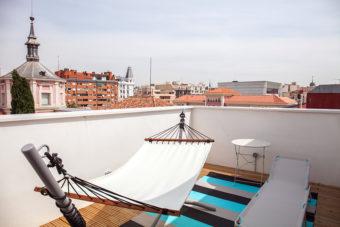 terraza privada hotel